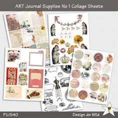 ART Journal Supplies No 1 Collage Sheets