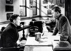 Spencer Tracy & Mickey Rooney in Boys Town 1938