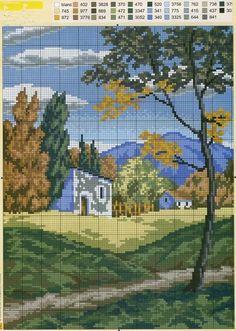 вышивка крестом пейзажи и природа схемы: 14 тыс изображений найдено в Яндекс.Картинках