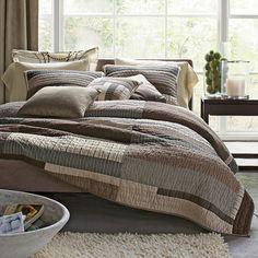 Essex Contemporary Quilt| Essex Neutral Bedding Collection
