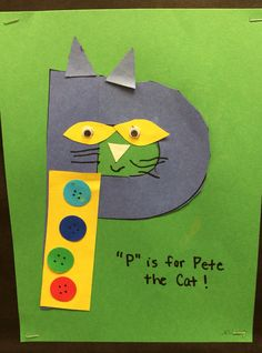 """P"" is for Pete the Cat https://www.amazon.com/Kingseye-Painting-Education-Cognitive-Colouring/dp/B075C661CM"