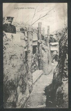Communication Trench to the Battery: German World War I postcard