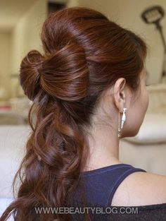 Ponytail Bow Hairstyle via