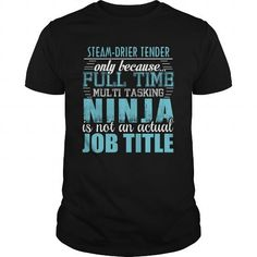 STEAM-DRIER TENDER Ninja T-shirt