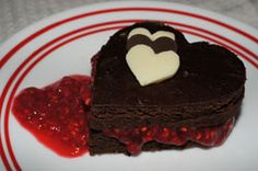Chocolate Brownie with Heeman's Raspberry Sauce Recipe. Black bean brownies with a gluten-free option. Chocolate and raspberries perfection.