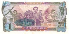 Wertseite: Geldschein-Asien-Nordkorea-원-1-1978
