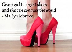 dont usually care for marilyn but this quote & shoes are so perfect.