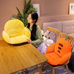 Kawaii Fruit Sofa Cushion - Limited Edition - KawaiiTherapy Kawaii Fruit, Kawaii Bunny, Kawaii Plush, Japanese Harajuku, Bear Doll, New Shop, Cushions On Sofa, Plush Dolls, Plushies