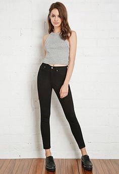 High-Rise Skinny Jeans   Forever 21 #forever21denim