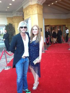 Keith Harkin with his sister, Rebecca