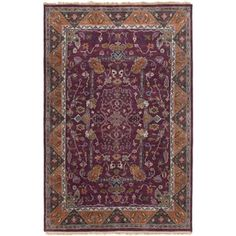 Shop for Hand-Knotted Andy Border New Zealand Wool Rug (5'6 x 8'6). Get free shipping at Overstock.com - Your Online Home Decor Outlet Store! Get 5% in rewards with Club O!