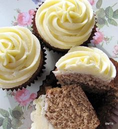 Fresh Ginger Cupcakes - This recipe uses fresh ginger, warm spices ...