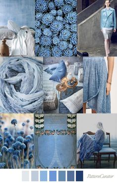 Blue is my favorite color! Nicoll Blue - Pattern Curator ss 2018 My favorite color