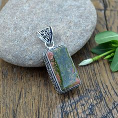 Hey, I found this really awesome Etsy listing at https://www.etsy.com/listing/253876521/natural-unakite-gemstone-pendant