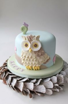 Adorable Owl Cake! by camille