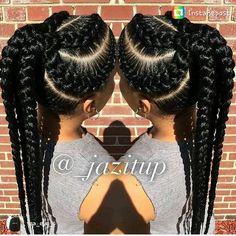 Goddess braids ponytail for black women hairstyles # braided hairstyles f Single Braids Hairstyles, African Braids Hairstyles, Girl Hairstyles, American Hairstyles, Black Hairstyles, Goddess Hairstyles, Easy Hairstyles, Wedding Hairstyles, Updo Hairstyle