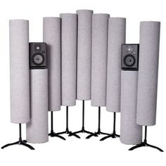 Acoustic Sciences Corporations acoustic tube traps for recording, acoustic sound panels and bass traps for better sound for room acoustics. Bass Trap, Room Acoustics, Audio Room, Acoustic Panels, Entertainment Center, Photo Studio, Wood Art, Tube, Interior