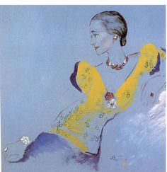 Portrait of Gemini Goddess Wallis Simpson, The Duchess of Windsor, by Cecil Beaton, 1936 Wallis Simpson, Art And Illustration, Cecil Beaton, Vintage Poster, Inspiration Art, Caravaggio, Michelangelo, Mellow Yellow, Art Design