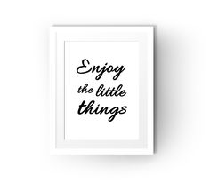 (free to print) Enjoy The Little Things via @TwoZeroOne