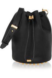 Alpha leather shoulder bag
