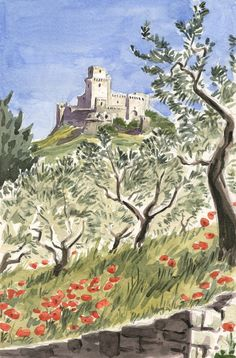 Assisi, Rocca Maggiore by olivier2046 on DeviantArt