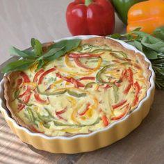 Healthy Sugar, Easy Healthy Recipes, Veggie Recipes, Sweet Recipes, Vegetarian Recipes, Healthy Food, Vegetarian Quiche, Savoury Baking, Vegetable Dishes