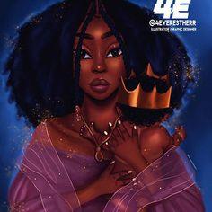 Mother Art Print by foreverestherr Black Love Art, Black Girl Art, Black Is Beautiful, Black Girl Magic, Black Art Painting, Black Artwork, Drawings Of Black Girls, Black Girl Cartoon, Natural Hair Art