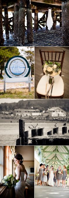 A lakeside wedding with a travel theme complete with luggage and a globe!