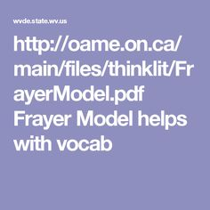 http://oame.on.ca/main/files/thinklit/FrayerModel.pdf  Frayer Model helps with vocab
