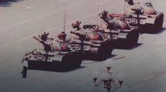 Człowiek przeciw czołgom. Zdjęcie z Tiananmen