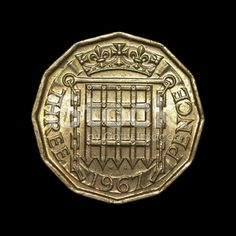 Twelve-sided threepenny bit old English coin 1967 reverse royalty-free stock photo Old British Coins, English Coins, Rare Coins Worth Money, Old Money, My Childhood Memories, Old English, My Memory, The Good Old Days, Retro