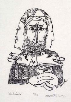 Ben Shahn (Stefan Martin, wood engraver)