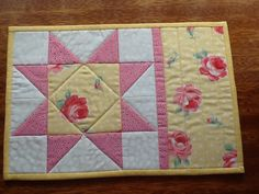 Quilted Snack Mat, Candle Mat, Placemat, Mug Rug, Coaster. No. 7. $9.00, via Etsy.