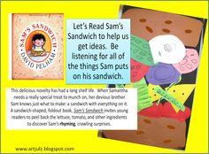 Kindergarten makes healthy choices with Subway Sandwiches and Sam's Sandwich -Art Julz