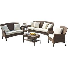 Panama Jack Key Biscayne Loveseat with Cushions Fabric: Spectrum Graph