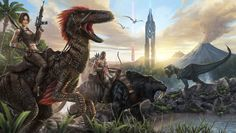 Get ready for a new breed of open-world dinosaur survival game, coming to Xbox One, PlayStation and Steam Windows/Mac/Linux! As a man or woman stranded na. Xbox One, Playstation, Evolve Wallpapers, Desktop Wallpapers, Hd Wallpaper, Evolve Game, Game Ark, Le Castor, Dinosaurs