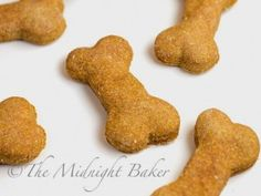 Just 2 ingredients make these yummy dog biscuits for your pooch.