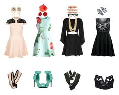 """""""GO OUT!!"""" by disabledpaladin on Polyvore featuring Chicwish, Exclusive for Intermix, River Island, Human Premium, Steve Madden, T.U.K., Akira Black Label, Cara, Kreepsville 666 and Bebe"""