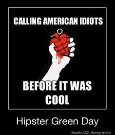 Green Day Logo Pegatina Calcomanía banda de música rock Portátil Coche VW Ventana Cd De Guitarra