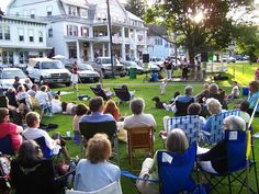 Music on the Green in Chester, Vermont!