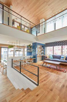 52 Modern Tiny House Plan Design that Will Inspire You Loft Design, Home Room Design, Dream Home Design, Home Design Plans, Küchen Design, Home Interior Design, Interior Architecture, Living Room Designs, Plan Design