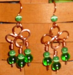 wire clover earrings wrapping tutorial