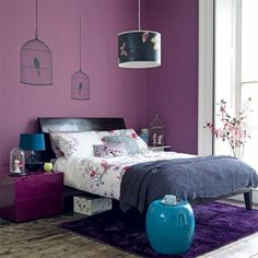 murs couleur prune chambre a coucher avec interieur violet tais violet pour la chambre - Chambre Beige Et Prune