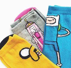Adventure time socks :)
