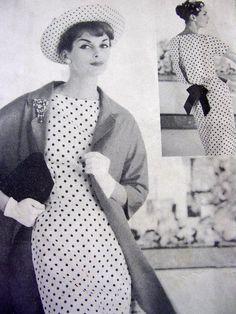 Vintage 50's VOGUE Couturier Original Sewing Pattern 112 - Rare -  Sheath Dress & Clutch Coat - size 12 or size 14 - Vogue Label