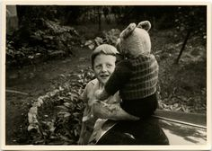 Vintage photo from Germany. Bear Photos, Vintage Teddy Bears, Old Dolls, Vintage Photos, Photo S, Children, Kids, Little Girls, Germany