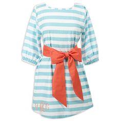 Ladies Stripe Aqua Tunic