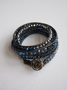 Chan Luu Style Leather Wrap Bracelet with Tutorial