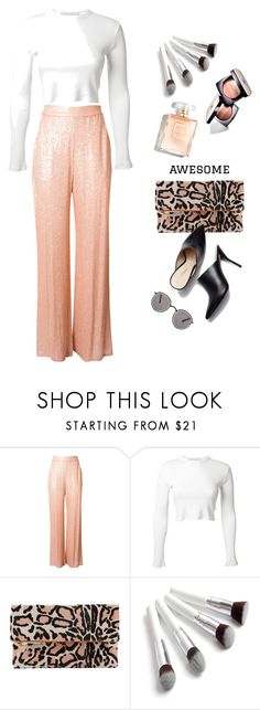 """""""Snow Leopard"""" by jacque-reid ❤ liked on Polyvore featuring Erin Fetherston, Rosetta Getty, Clare V., Chanel and Frēda Banana"""