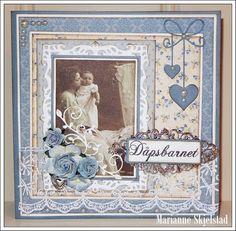 Mariannes papirverden.: Dåpskort - Pion Design